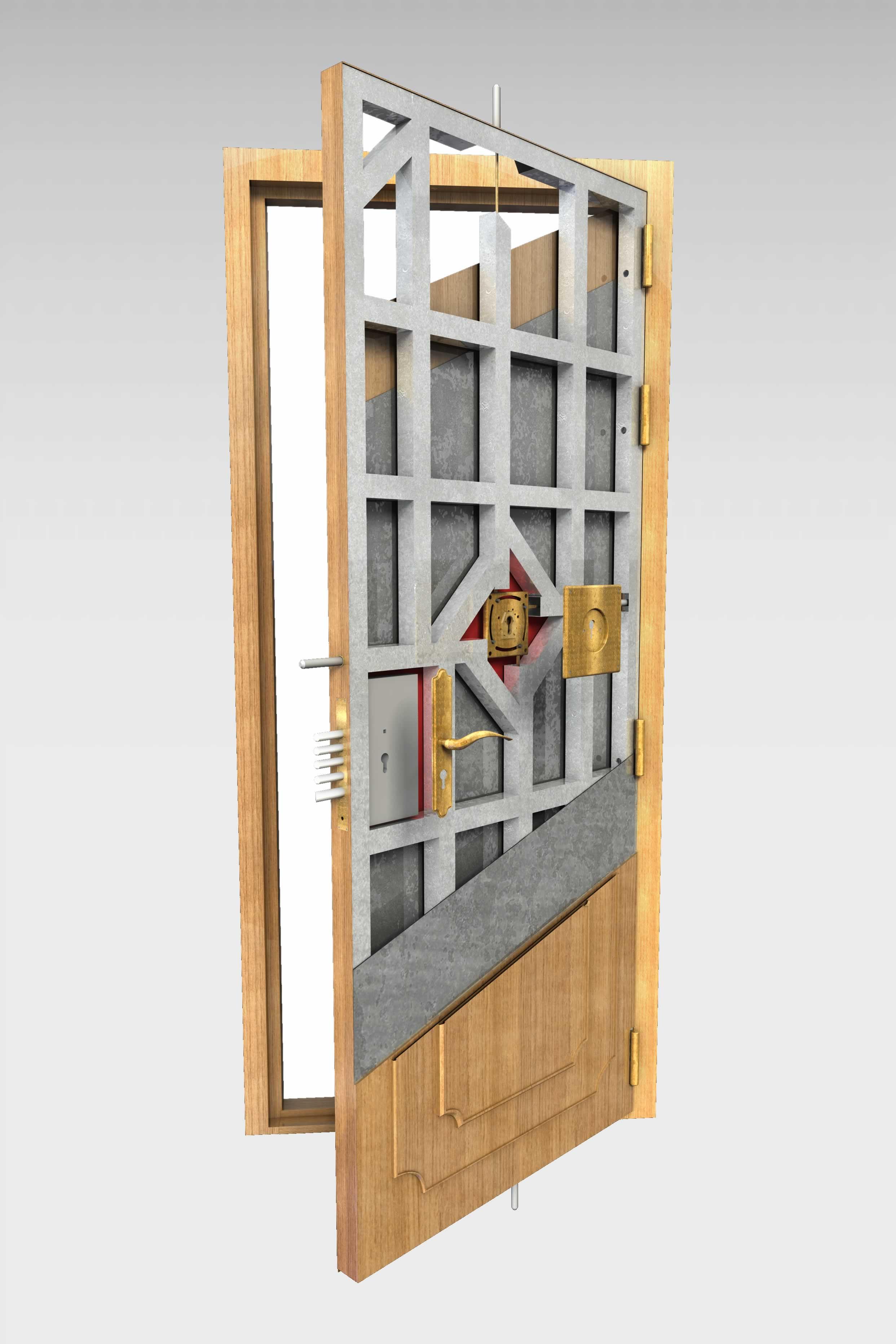 Puerta acorazada olimpo de la serie hogar roconsa for Precio puertas blindadas exterior