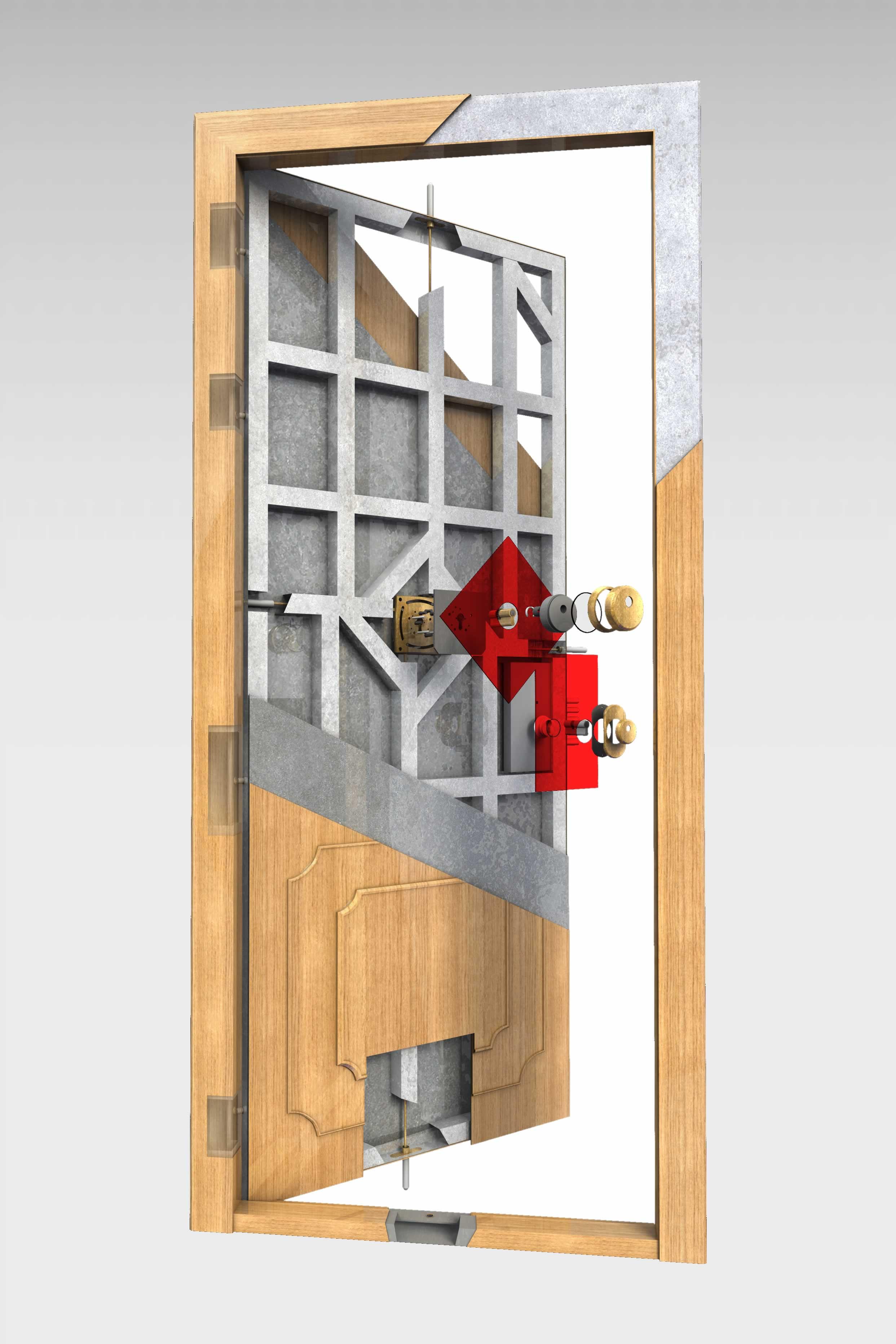 Puerta acorazada olimpo de la serie hogar roconsa for Puertas blindadas precios