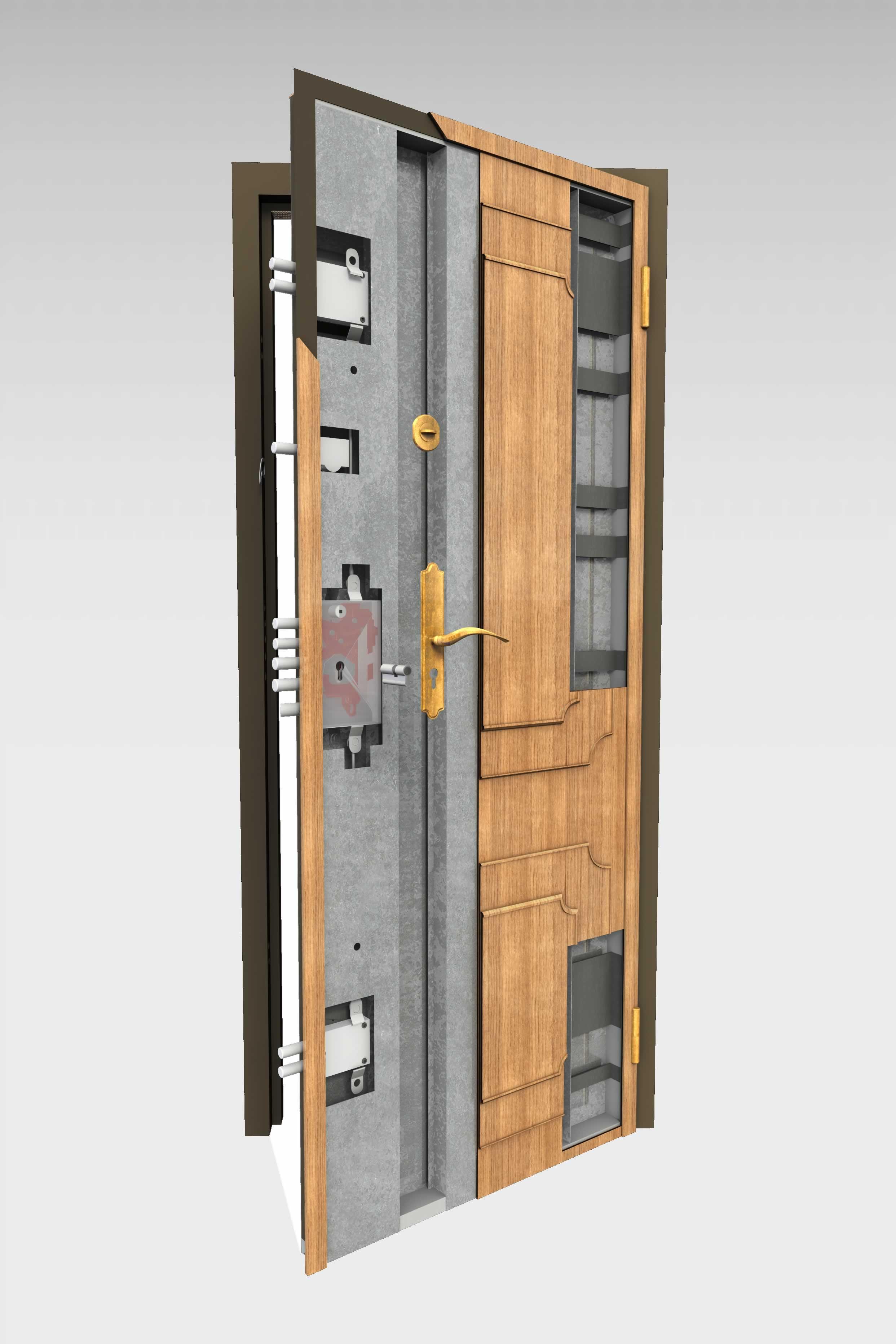 Puerta acorazada 305 roconsa - Puertas blindadas a medida ...