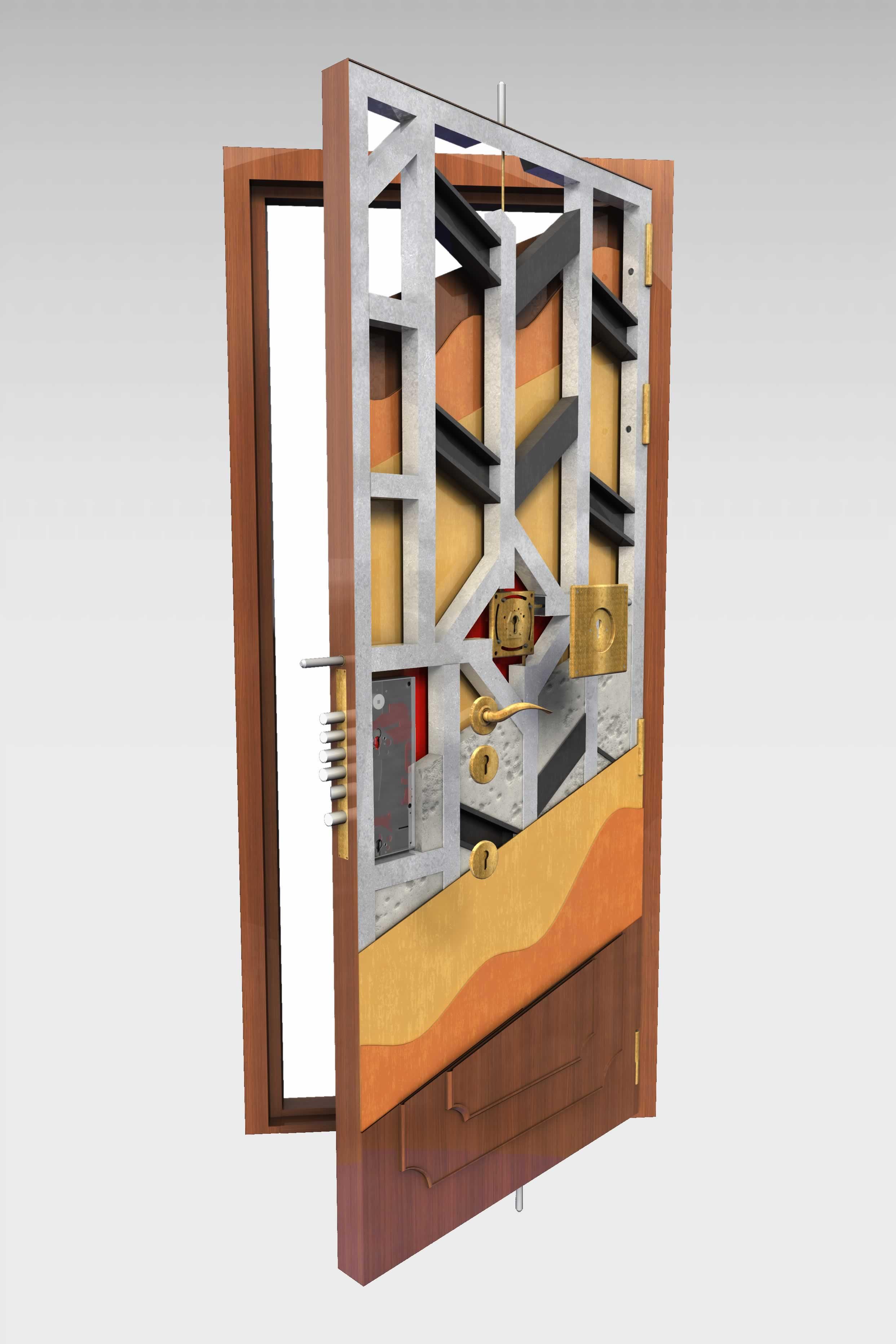 Puerta acorazada goliat roconsa for Puertas 75 x 200