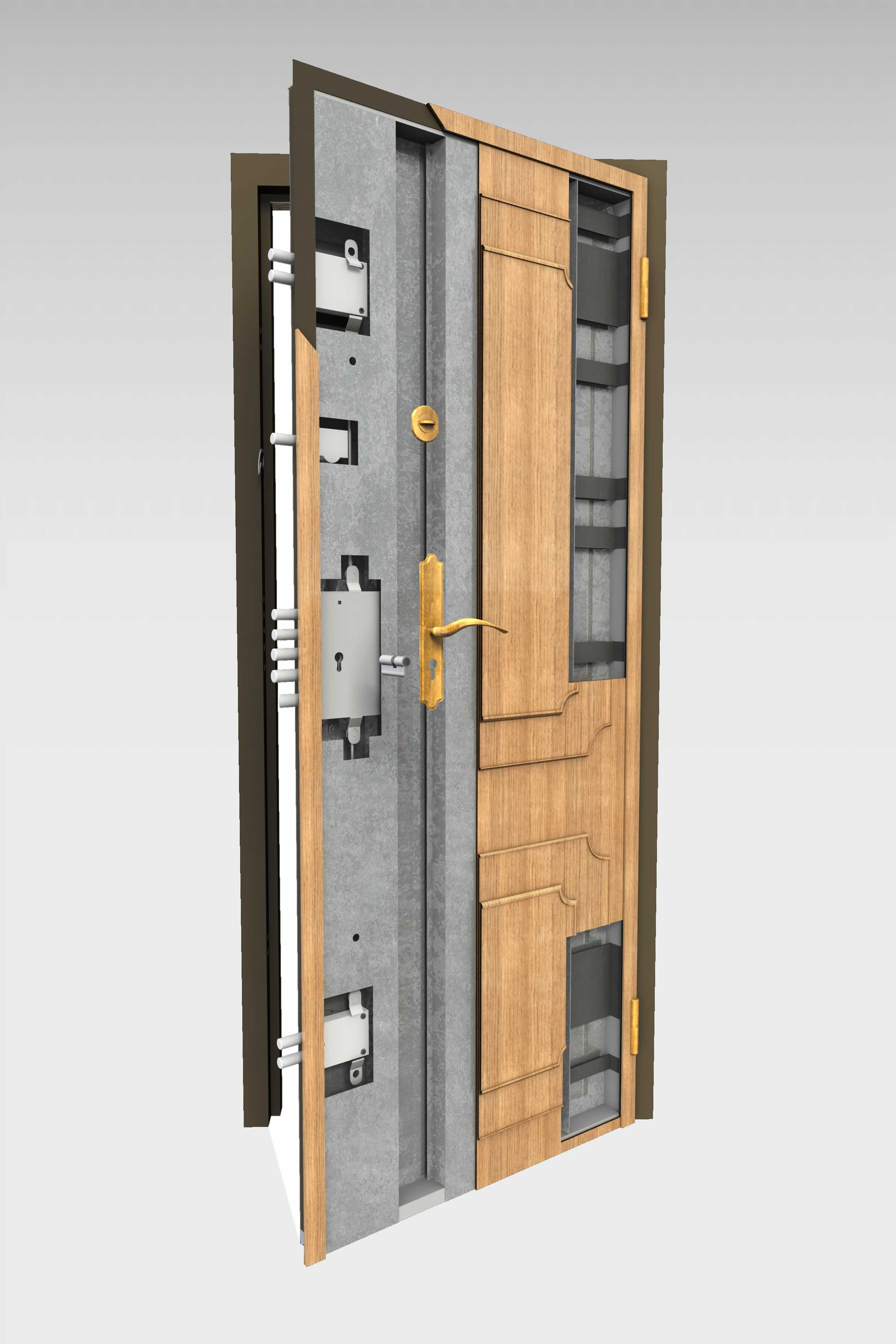 Puerta acorazada 200 ei2 60mn roconsa - Puertas blindadas de exterior ...