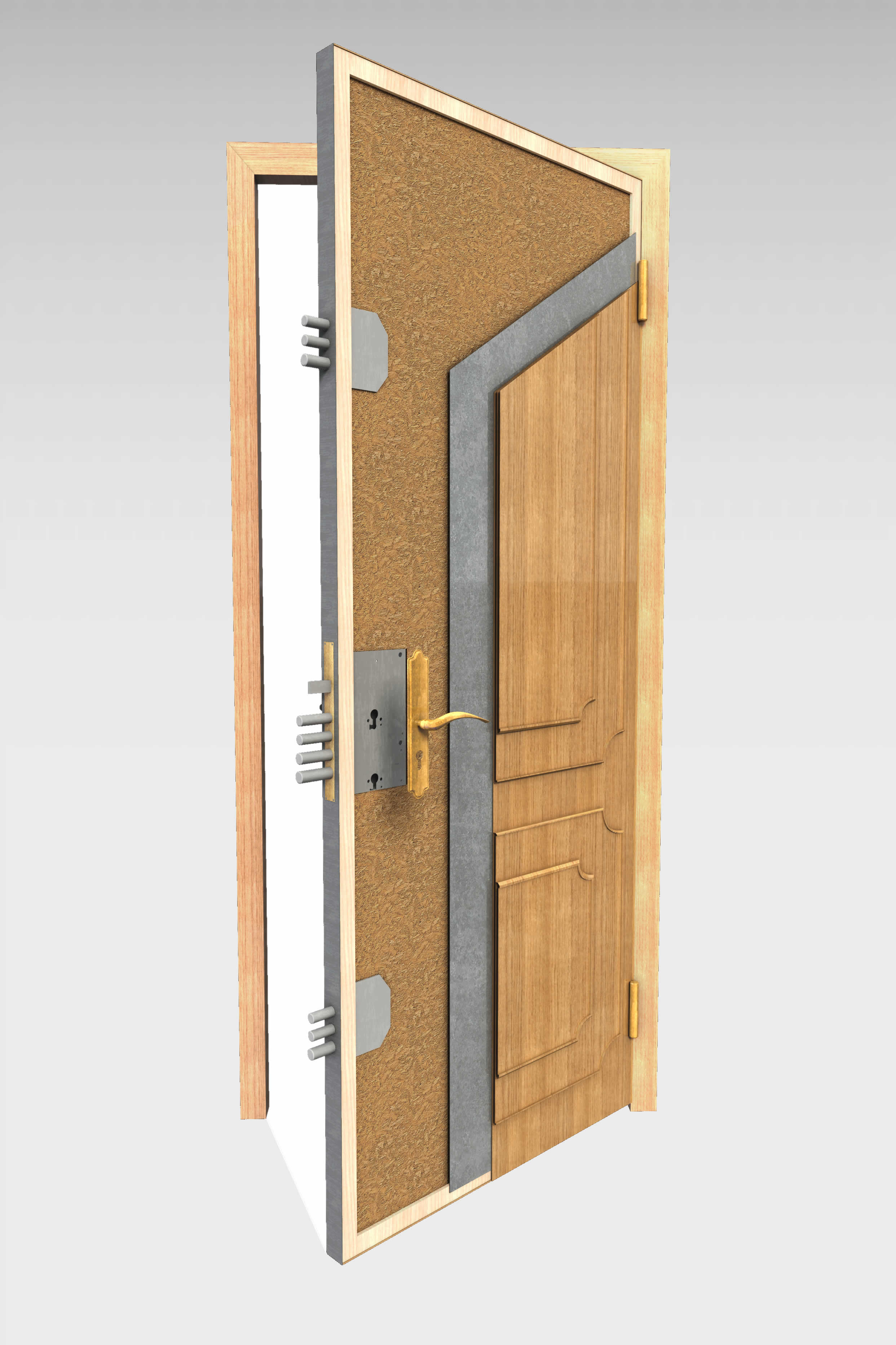 Puerta blindada b 10 roconsa - Cerraduras puertas blindadas ...