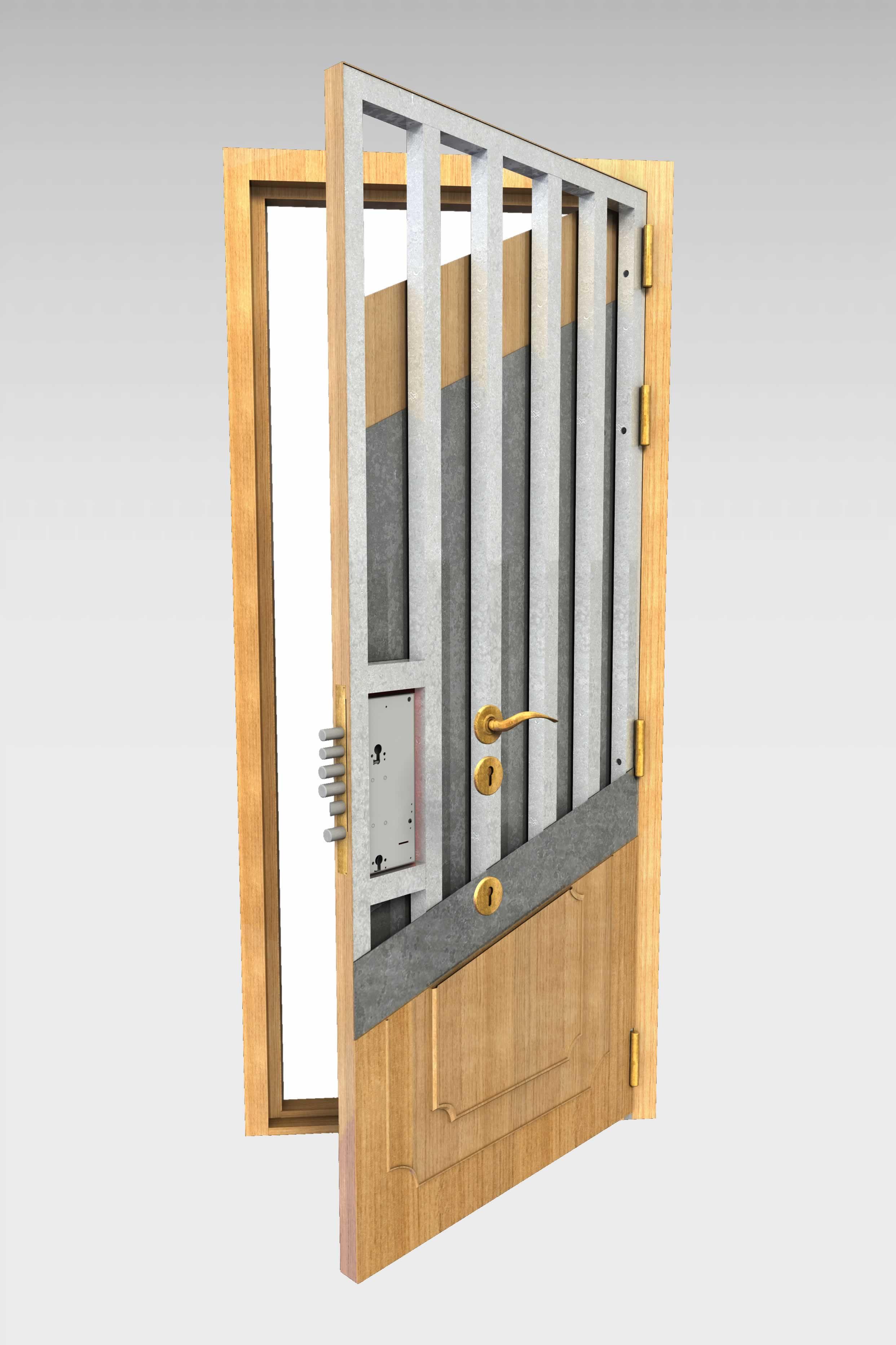 Puerta acorazada 490 r roconsa - Puertas blindadas de exterior ...