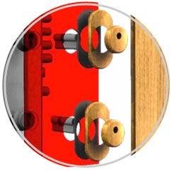 Escudos de seguridad tronco conicos