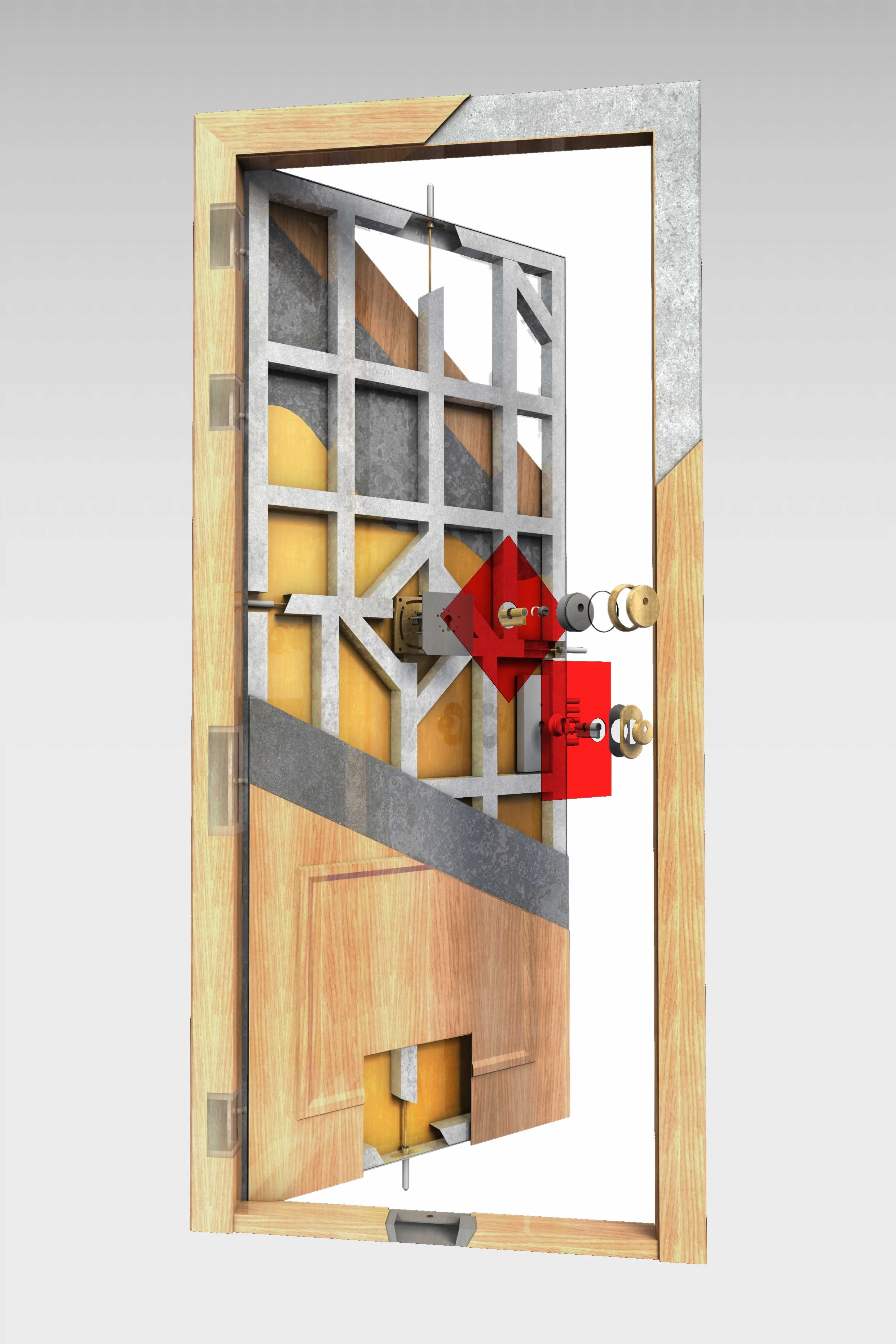 Hermosa Profundidad Marco De La Puerta Estándar Ilustración - Ideas ...