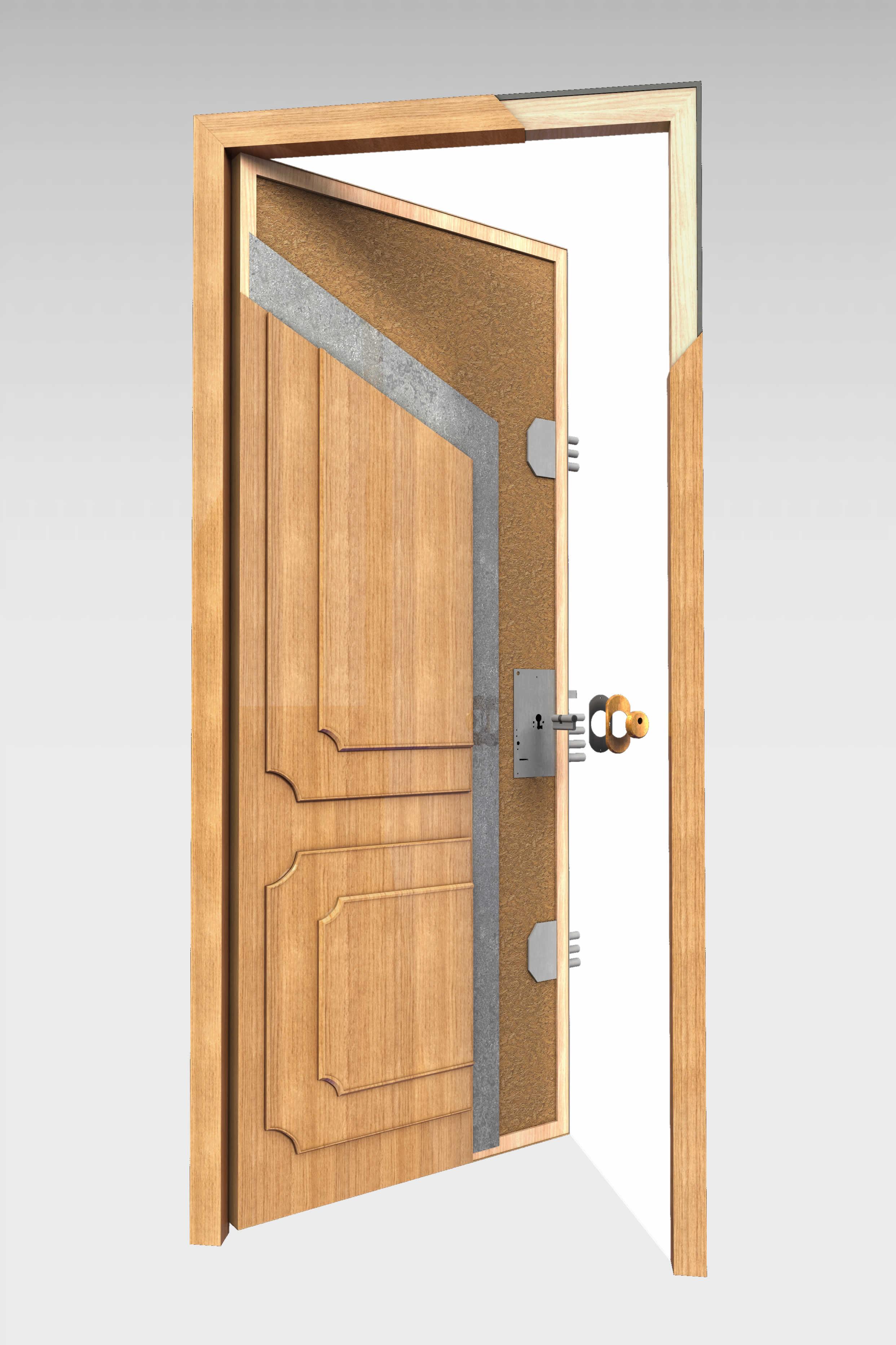 Puerta blindada b 10 roconsa - Catalogo puertas metalicas ...