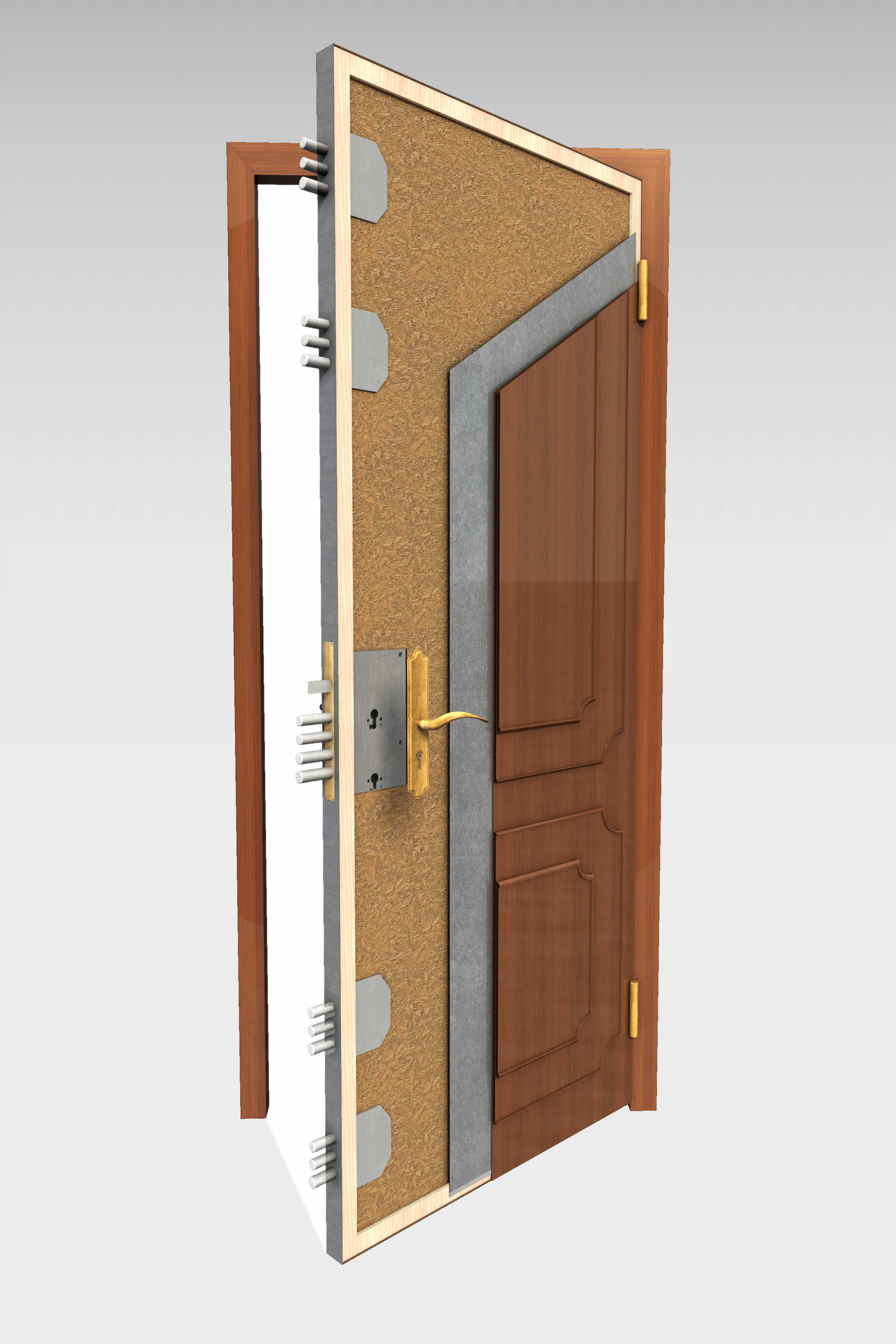 Puerta blindada b 16 serie t cnica roconsa for Precio instalacion puertas interior