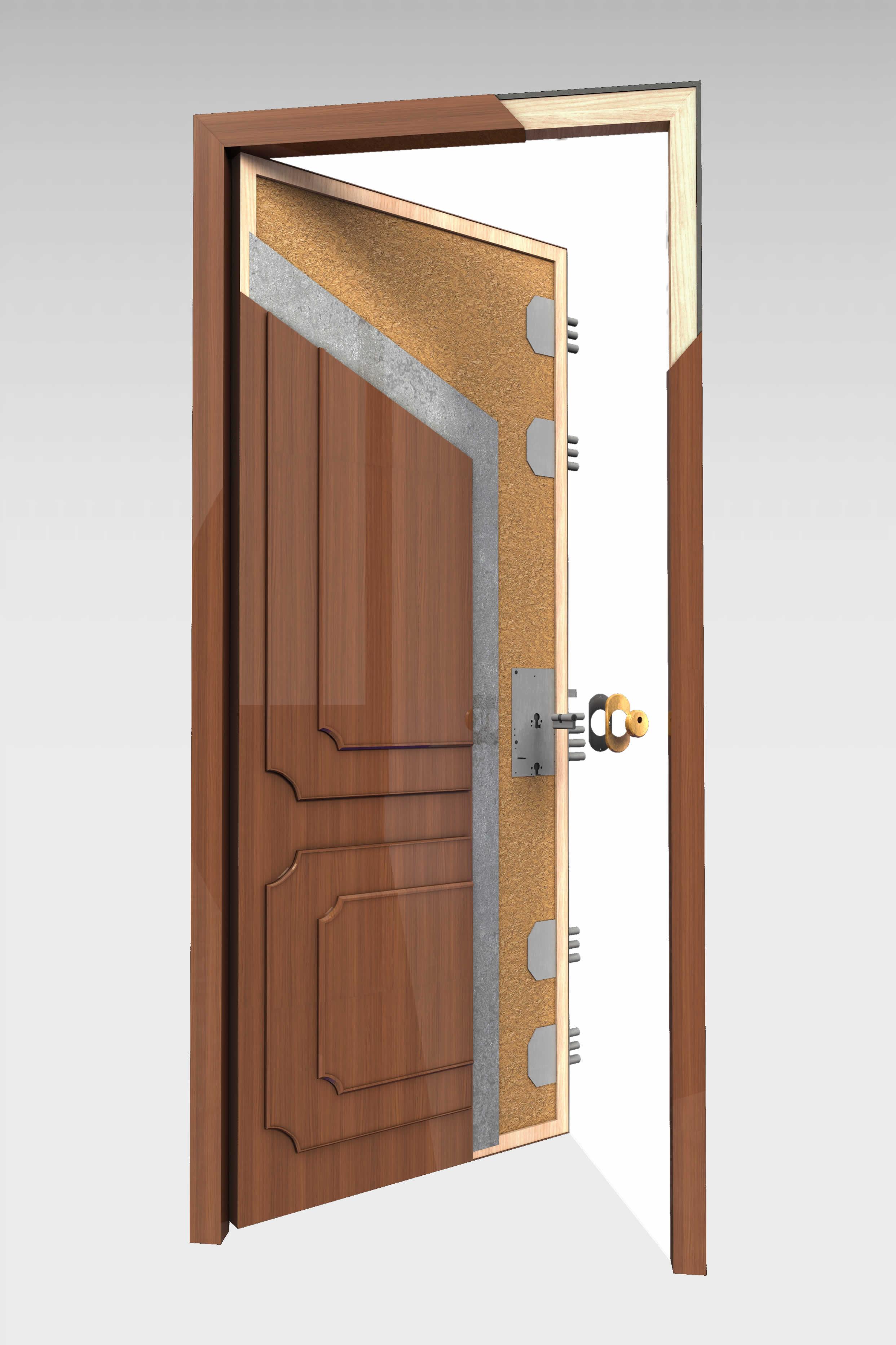 Puerta blindada b 16 serie t cnica roconsa - Puertas norma catalogo ...