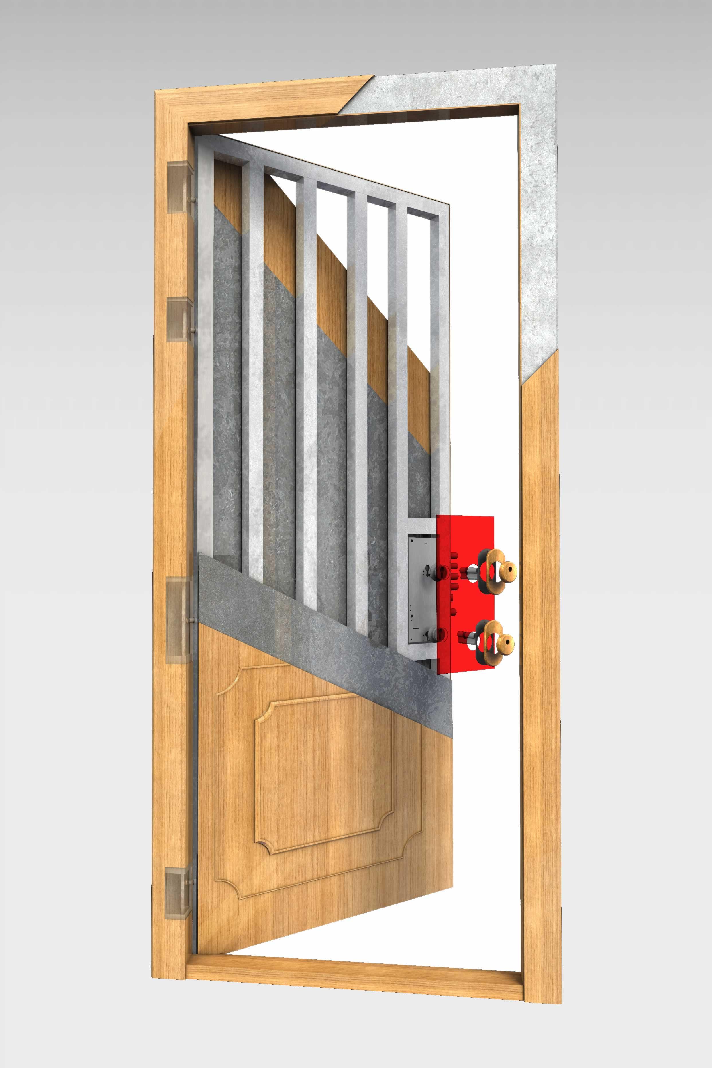 Puerta acorazada 490 rg roconsa - Precio puerta blindada ...