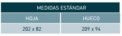 medidas estándar puertas estructurales