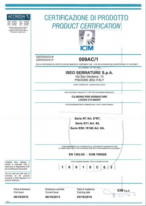Certificación ISEO R7