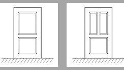 ¿Qué es una moldura en una puerta de seguridad?