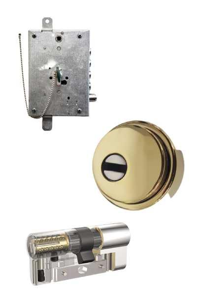 Cerradura STD similar a la actual + Escudo GM  + Kaba VDSBZ  (opcionales embellecedor cilindro y manivela)