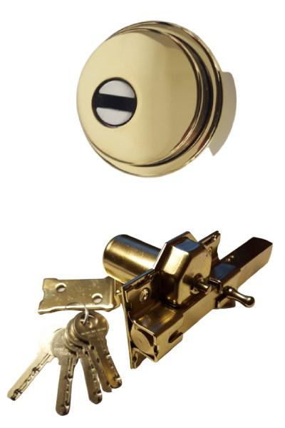 Escudo GM tipo Disec con embellecedor y lenteja de seguridad + Cerrojo Antibumpin LINCE o FAC